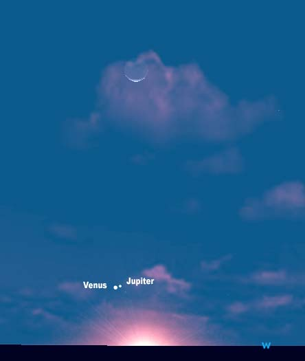 Jupiter and Venus to Cross Paths Feb. 16