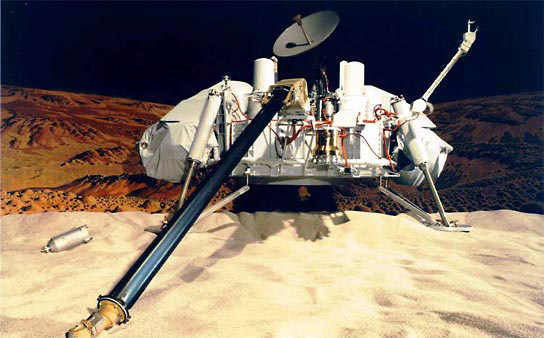 The Viking landers carried four instruments designed to search for signs of Martian life: a gas chromatograph/mass spectrometer, as well as experiments for gas exchange, labeled release, and pyrolytic release.