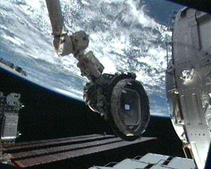 Astronauts Move Space Station Docking Port to New Home