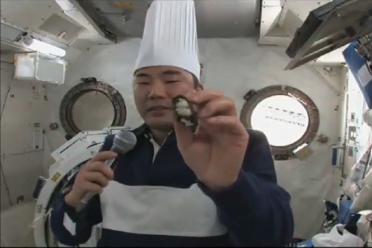 Astronaut Makes Sushi in Space