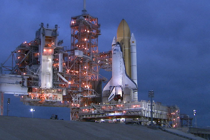 NASA Moves Space Shuttle Discovery to Launch Pad