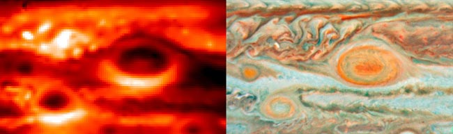Secrets of Jupiter's Great Red Spot Revealed in New Weather Map