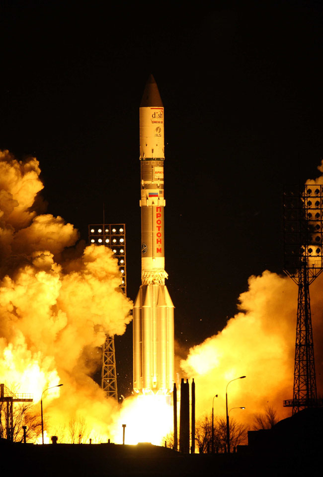 Proton Rocket Launches New DISH Network Satellite