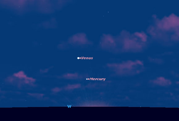 See Venus and Mercury Shine in Celestial Dance