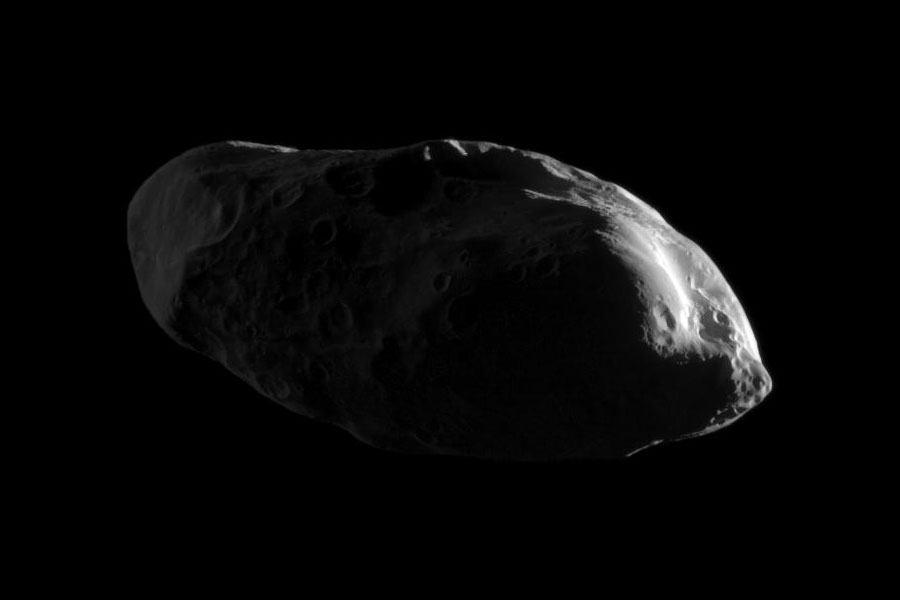 Great Shot! Moon of Saturn Seen in New Light