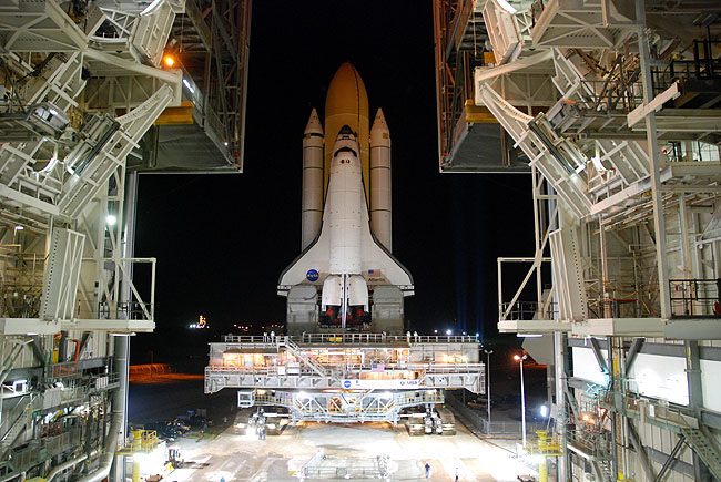 Space Shuttle Atlantis Moves to Launch Pad for Final Planned Flight