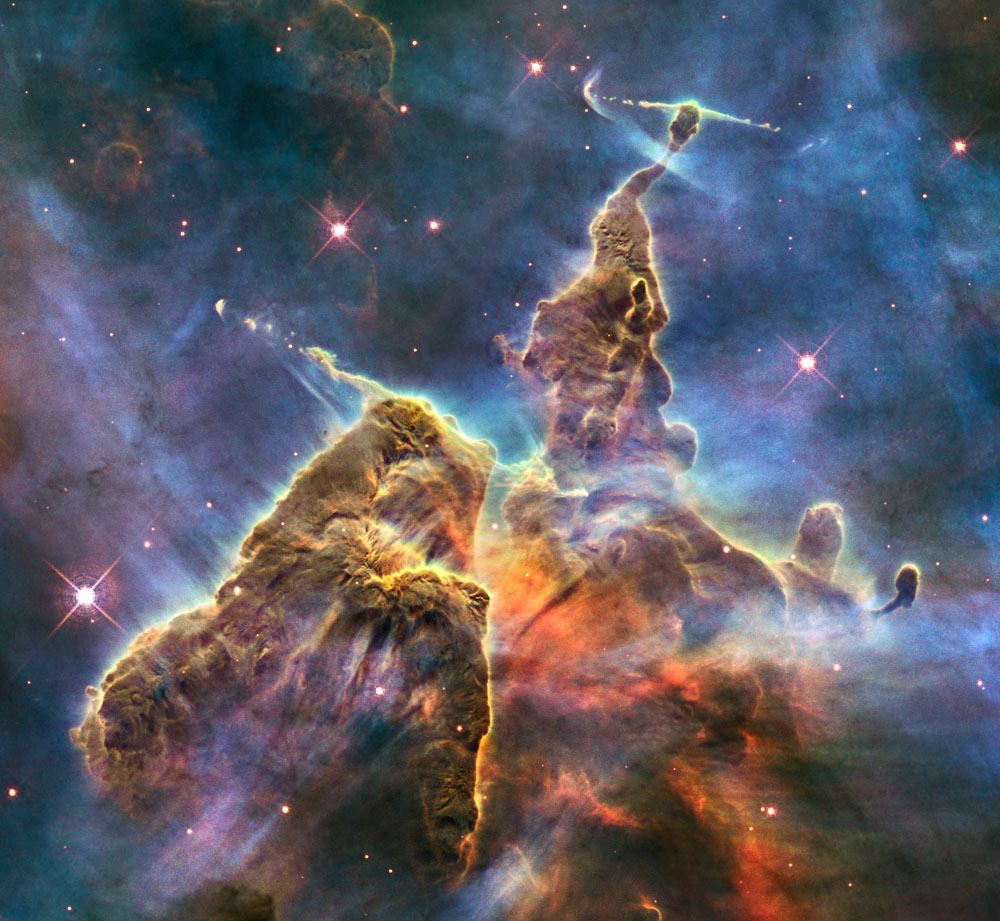 Hubble Telescope Spies Majestic Space Mountains
