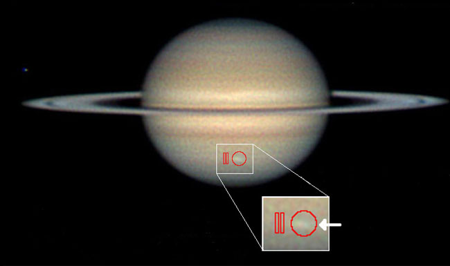 Giant Blizzard Raging on Saturn