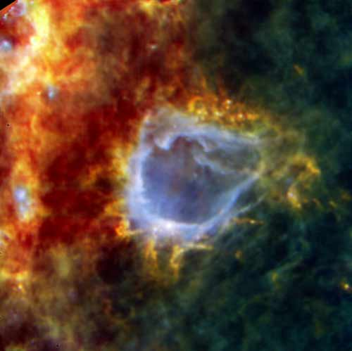 Birth of 'Impossible' Star Seen by Herschel Space Telescope