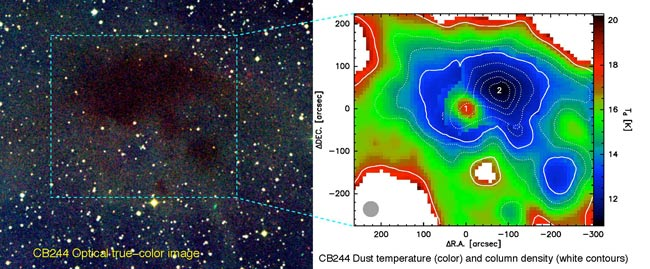 Frigid Cloud in Deep Space Gets Its Temperature Taken
