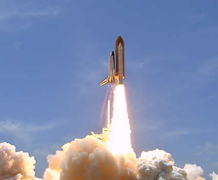 Shuttle Atlantis Soars Into Space on Final Mission