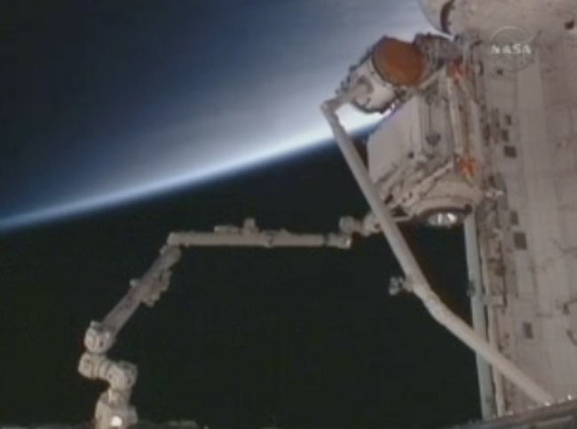 Astronauts Attach New Russian Science Module to Space Station