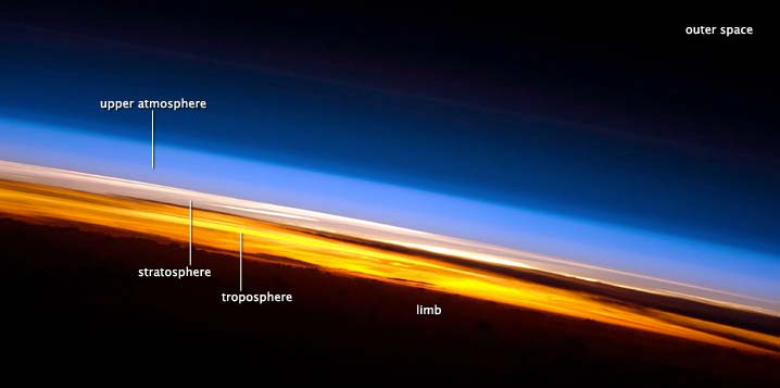 Earth's Colorful Atmospheric Layers Photographed from Space