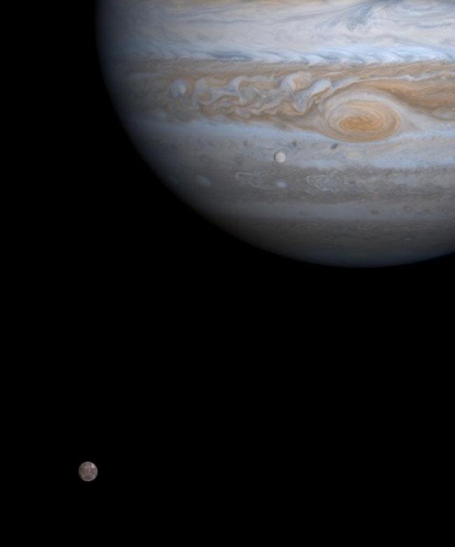 Jupiter, Europa & Callisto