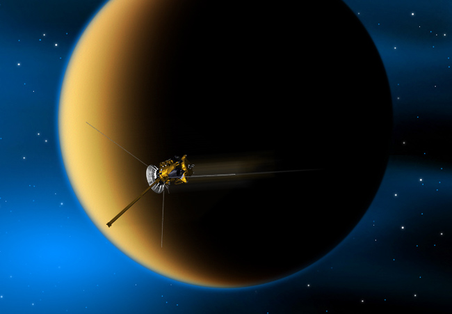 Spacecraft to Skim Atmosphere of Saturn's Moon Titan