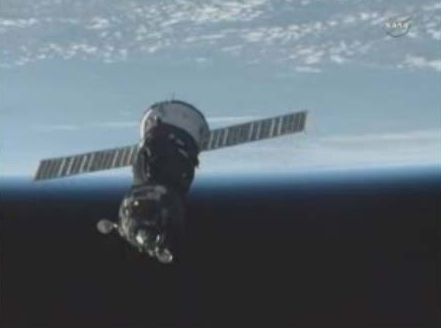 Soyuz Spaceship Moves to New Docking Port After Delay