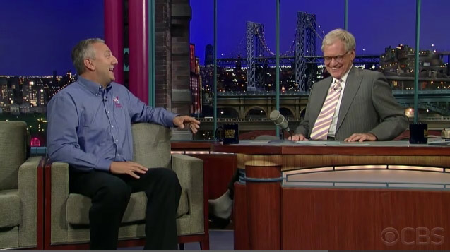Astronaut Talks Space with David Letterman