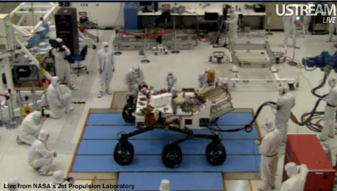 New Mars Rover Takes First Drive ... On Earth