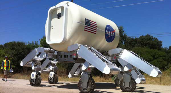 NASA Takes Huge Moon Rover for a Test Drive ... and Dance