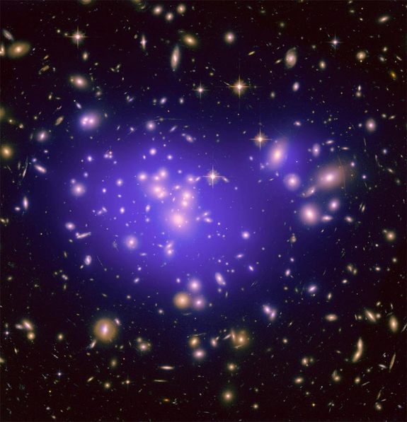 The galaxy cluster Abell 1689 is famous for the way it bends light in a phenomenon called gravitational lensing. Study of the cluster has revealed secrets about how dark energy shapes the universe.