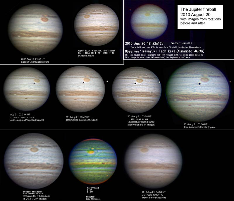 Jupiter Took a Double Wallop as Amateurs Watched