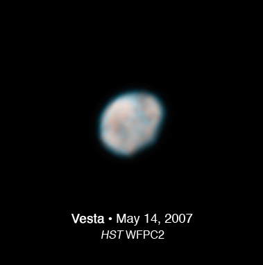 Asteroid Vesta as Seen by Hubble