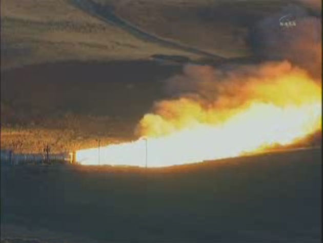 NASA Tests New Rocket Motor Despite Uncertain Future