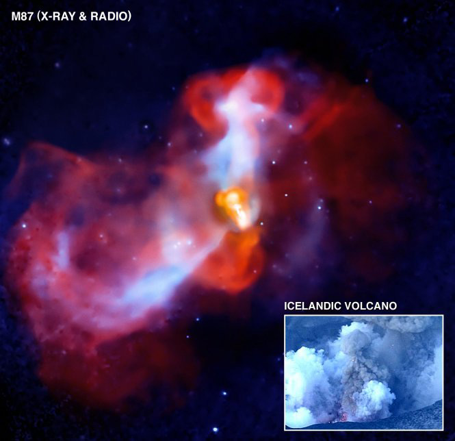 Galactic 'Supervolcano' Seen Erupting With X-Rays