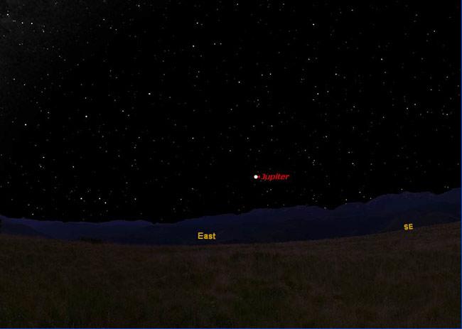 Jupiter Dazzles In the Night Sky