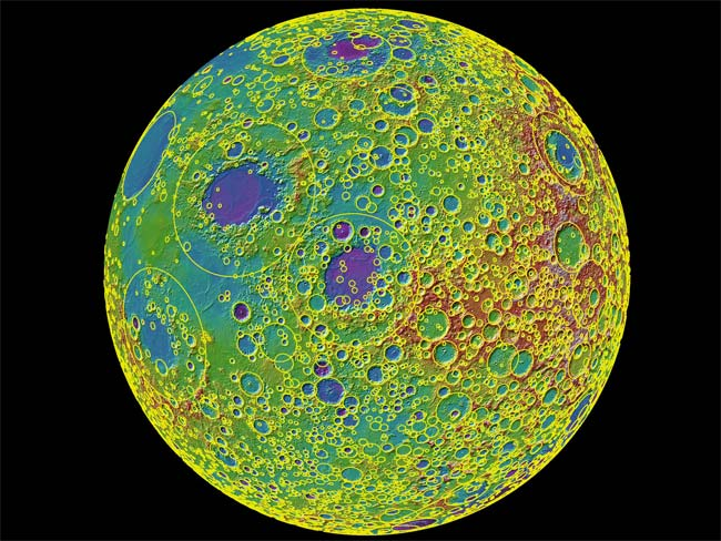 Moon's Face Reveals Extreme Cosmic Abuse