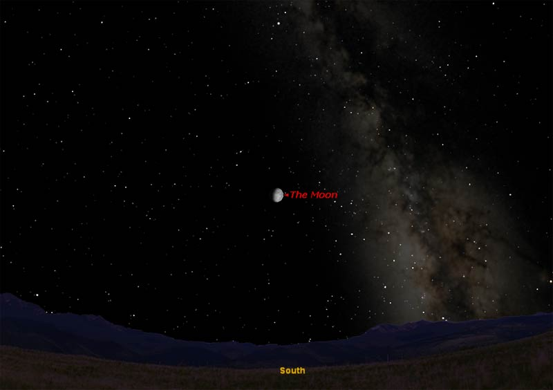 How to Observe the Moon Saturday Night