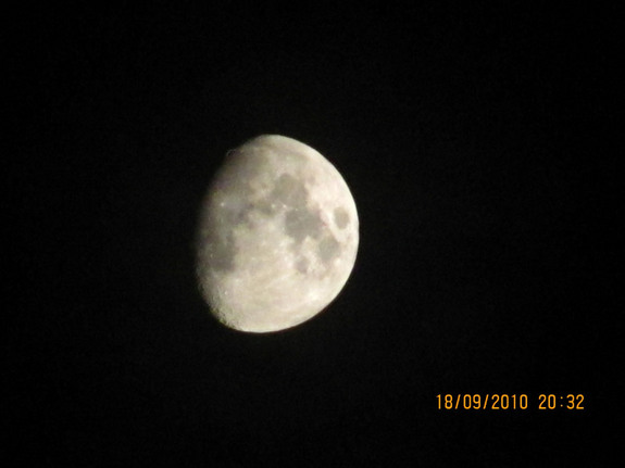 Skywatcher Andrew Brown in Ashford, Kent, in the U.K. snapped this photo of the moon on Sept. 18, 2010 during International Observe the Moon Night.