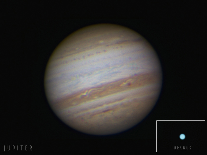 Amazing Views of Jupiter and Uranus Thrill Skywatchers