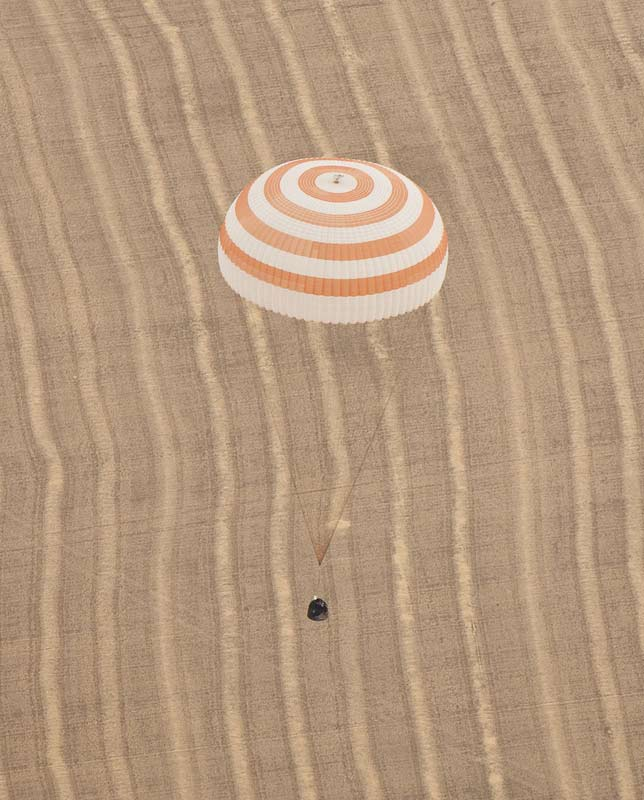 Soyuz Capsule Lands Safely With Russian-U.S. Crew