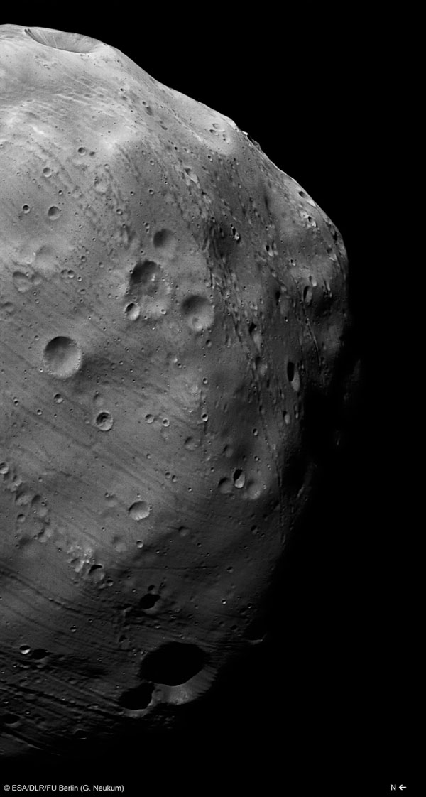 Mars Moon Phobos Likely Forged by Catastrophic Blast