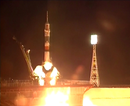 Soyuz Rocket Launches New Crew Toward Space Station
