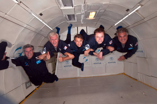 Filmmaker James Cameron Takes Zero Gravity Joy Ride