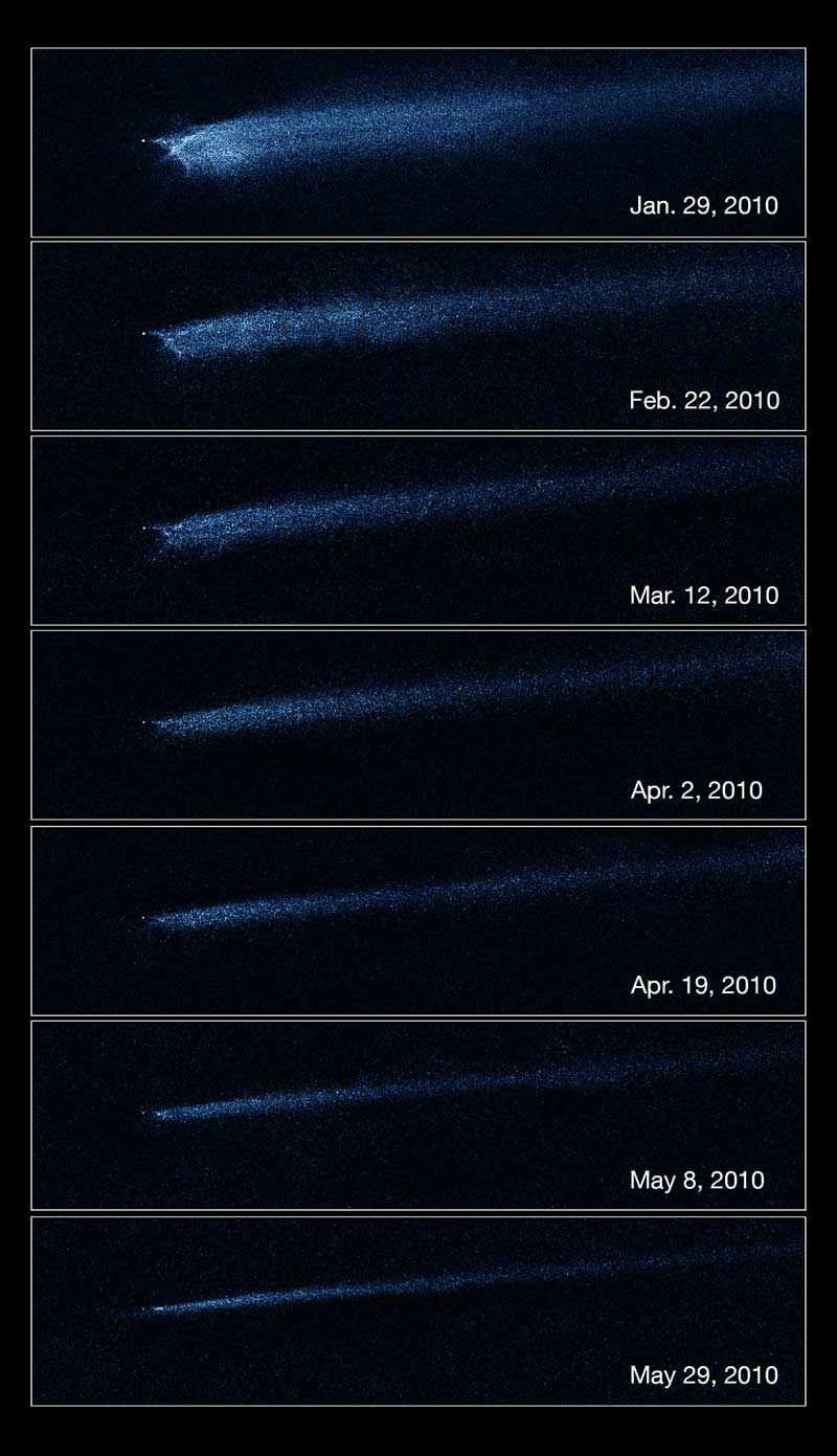 'X' Marks the Spot: Hubble Reveals Collision Between Asteroids