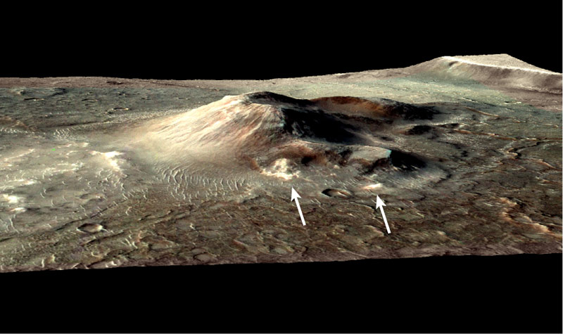 Habitable Hotspots on Mars? Volcano Vents May Be Signs