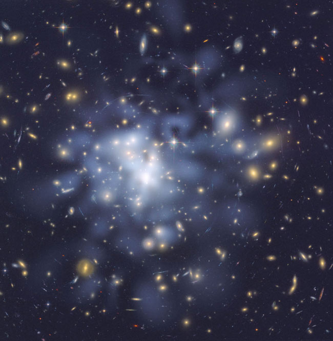 Chubby Galaxy Cluster Suggests Dark Energy Was Stronger Long Ago