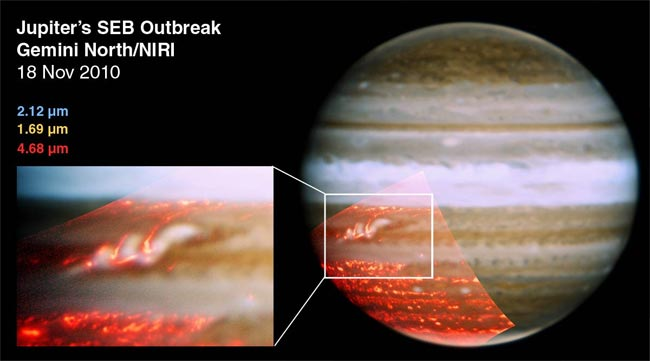 Jupiter's Missing Cloud Stripe Bounces Back Big Time