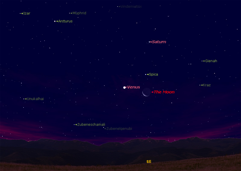 Triple Sky Show: Venus, Moon and Bright Star to Dazzle Thursday