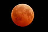 """Photo of the Dec. 20, 2010  total lunar eclipse from Cochranville, Pa. taken by Kevin R. Witman, using a Meade LX50 10"""" Schmidt Cassegrain telescope and a Canon XS DSLR camera."""