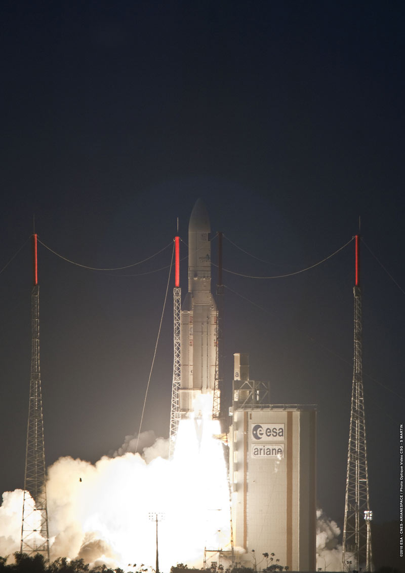 European Rocket's Flawless Launch Caps String of Success in 2010