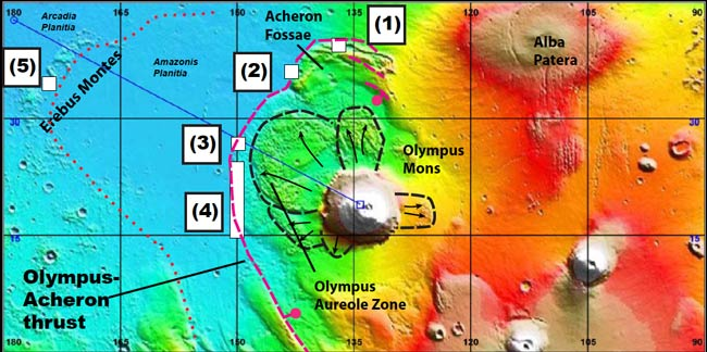 Surface of Mars Possibly Shaped by Plate Tectonics in Recent Past