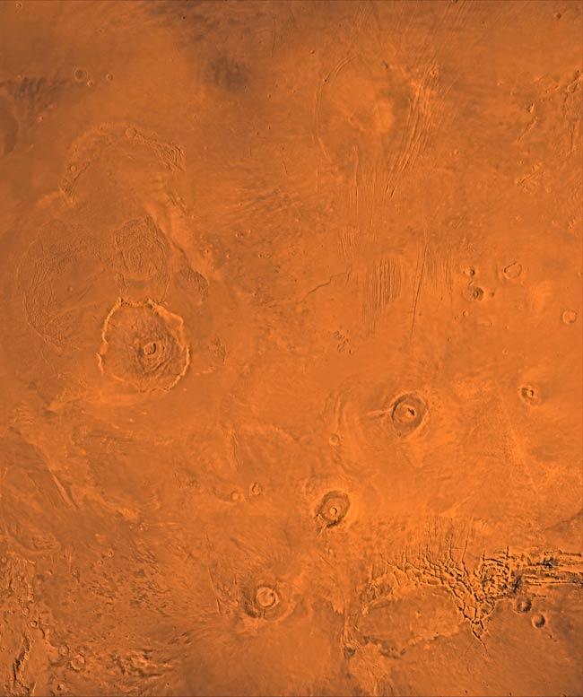 Mars' Tharsis Montes Volcanoes