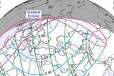 This NASA map depicts the path of the partial solar eclipse to occur on Jan. 4, 2011. Skywatchers in Sweden will get the best view of the partial solar eclipse, NASA says. Credit: NASA