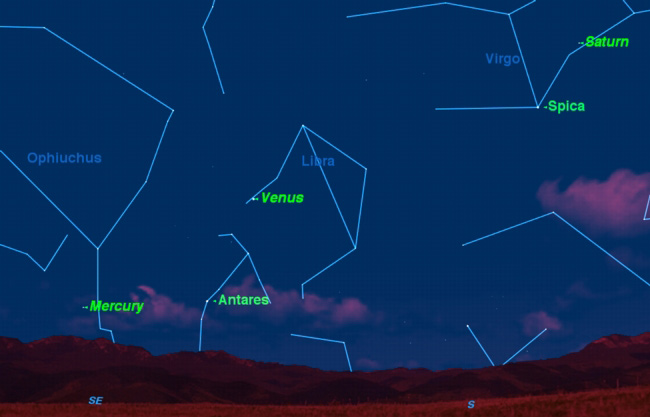Planet Triple Feature: Venus, Saturn and Mercury Visible at Dawn This Week