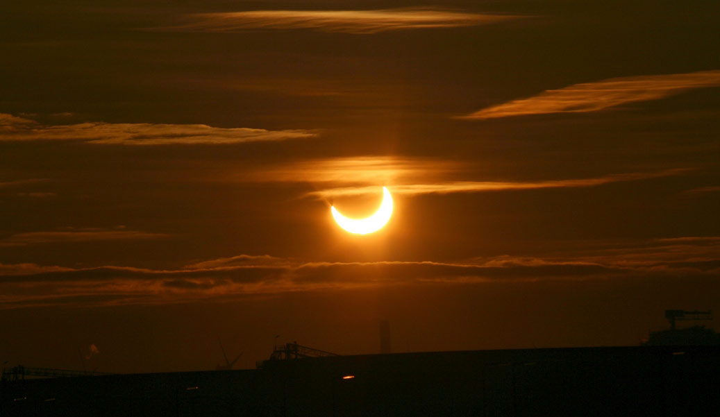 Sunrise Solar Eclipse