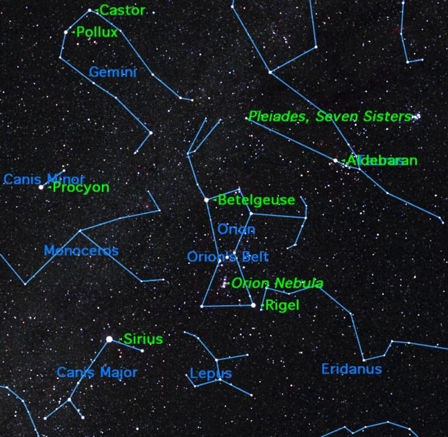 Great Hunter Orion Now Looms Large in the Night Sky